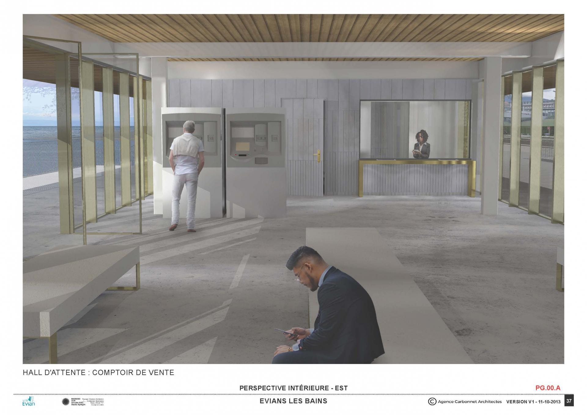 Gare lacustre evian int2 agence carbonnet architectes