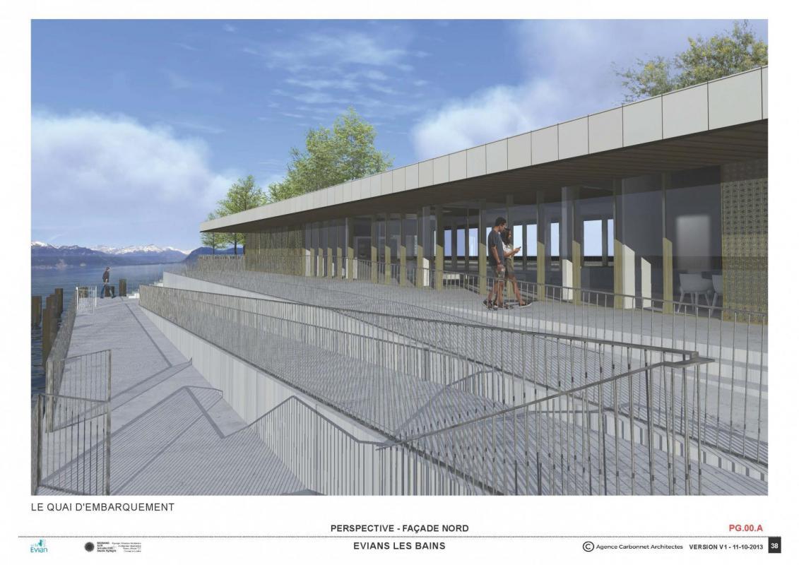 Gare lacustre evian6 agence carbonnet architectes